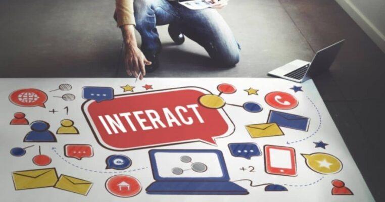 web design interact on social